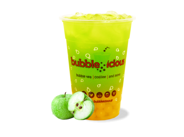 Bubble Tea Green Apple