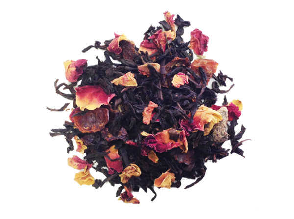 Loose Tea Black Peach Wild Roses