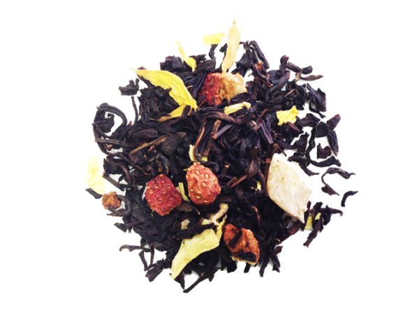 Loose Tea Black Pineapple Strawberry Sunflower